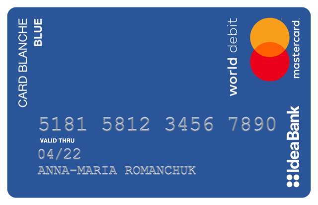 Кредитна картка Card Blanche Blue