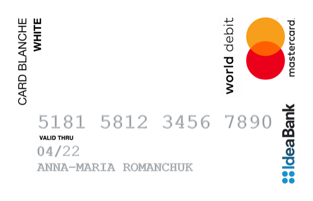 Кредитна картка Card Blanche White